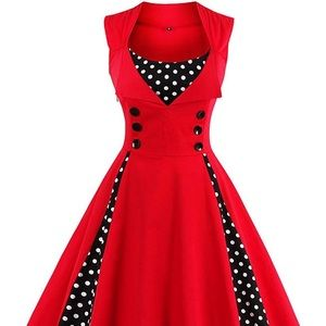 Red Retro Anthropologie Dress